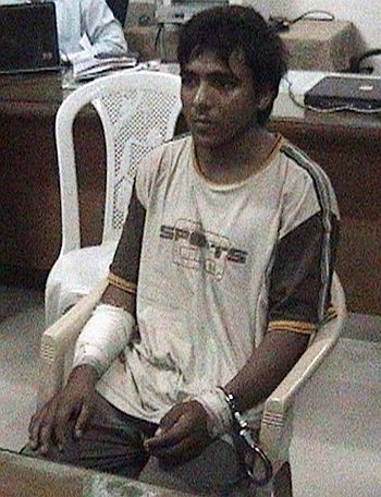 Ajmal Kasab at the special trial court