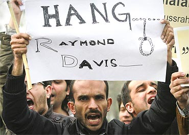 A Jamaat-e-Islami protest rally against Raymond Davis in Lahore