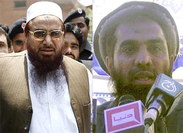 LeT operatives Hafiz Mohammed Saeed and Zaki-ur-Rehman Lakhvi