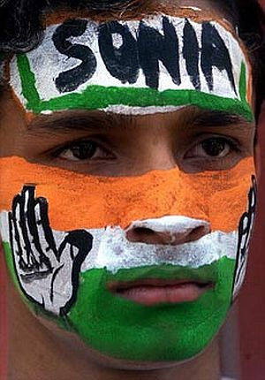 A Congress supporter