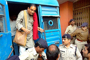 Dr Binayak Sen at the court in Raipur
