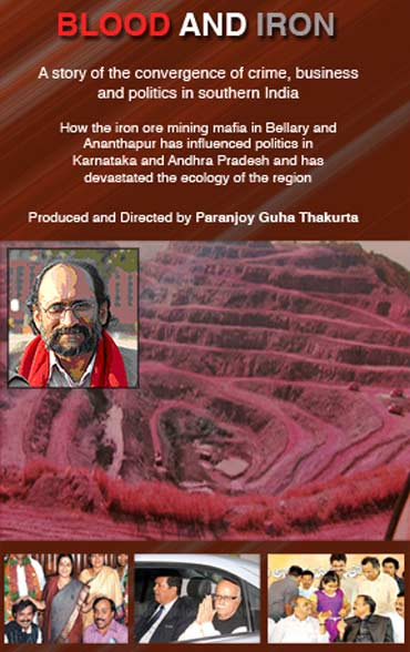 Blood and Iron, a documentary on illegal iron ore mining by Paranjoy Guha Thakurta, inset