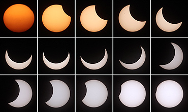 Breathtaking images of a solar eclipse