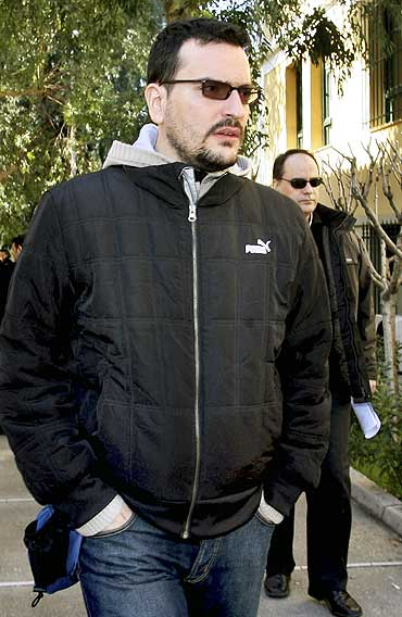 A file photograph of journalist Sokratis Giolias, who was gunned down in Athens on July 19, 2010
