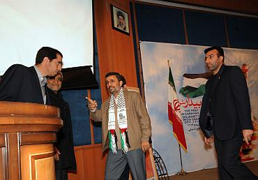 Iranian President Mahmoud Ahmedinejad at the felicitation ceremony