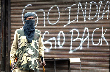 Srinagar during a shutdown