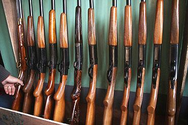 Guns produced at the Subhana Gun factory