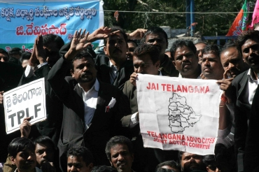 Lawyers protest against the Srikrishna panel report