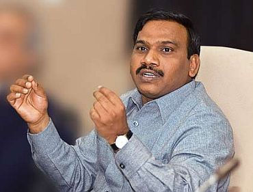 Former Telecom Minister A Raja