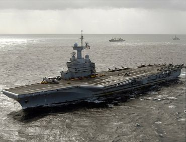File photo of French aircraft carrier Charles De Gaulle