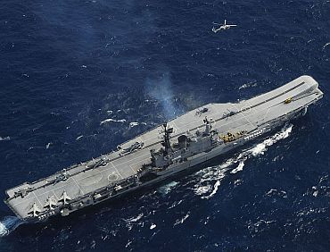 File photo of India's only aircraft carrier INS Viraat