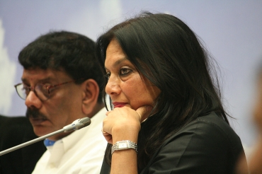 Film makers Priyadarshan and Mira Nair