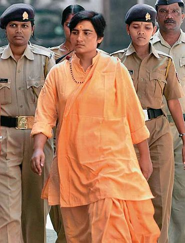 File photo of Sadhvi Pragya Singh