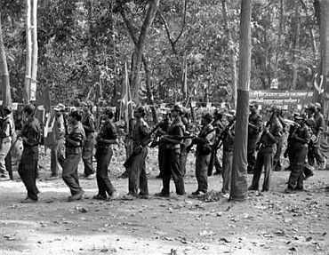 A file photo of a Maoist camp