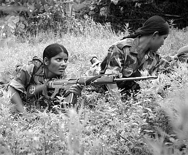A file photo of woman Maoist cadres