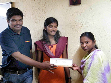 Parvathi receives a gift for striking 15 deals in 15 days