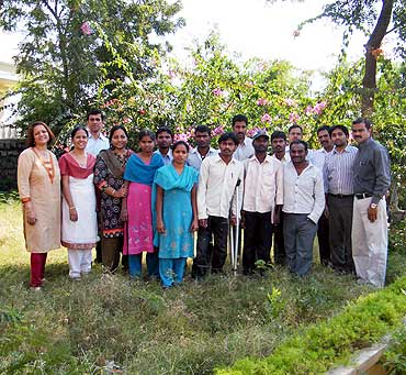 Meera Shenoy (left) with her team and trainees