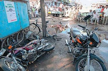 The scene of the blast in Malegaon