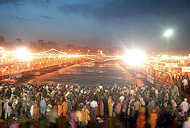 An image from Kumbh Mela in Haridwar