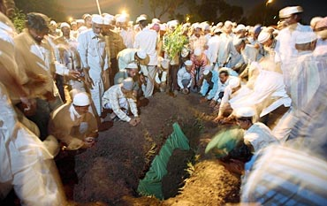A file photo of people paying their last respects to Malegaon blast victims