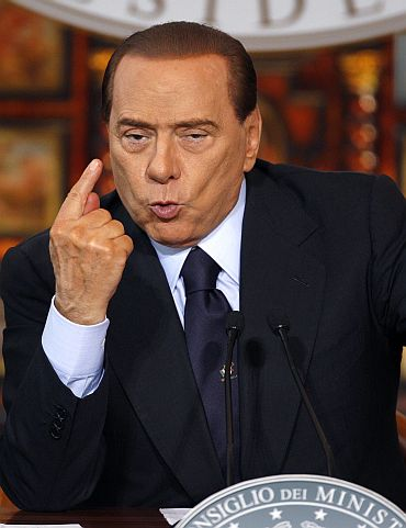 Italy's Prime Minister Silvio Berlusconi