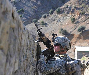 A US soldier in Afghanistan's Kunnar province