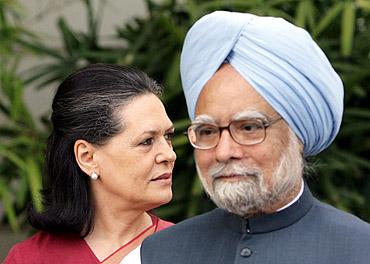 Prime Minister Manmohan Singh and Congress Presiden