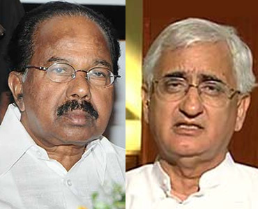 Veerappa Moily and Salman Khurshid