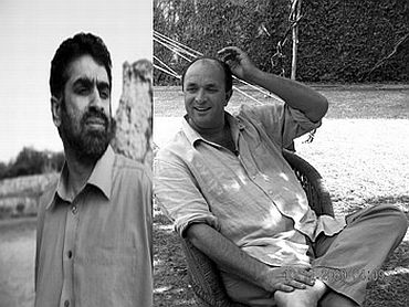 (Left) Hartosh Singh Bal (Right) William Dalrymple