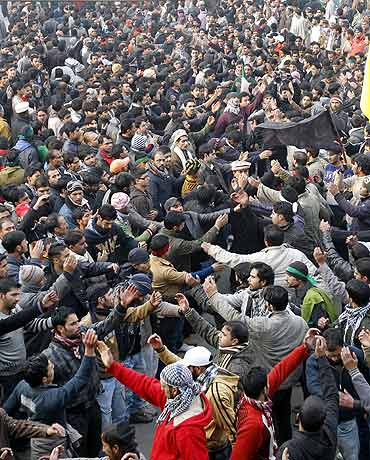 A Muharram procession in Srinagar