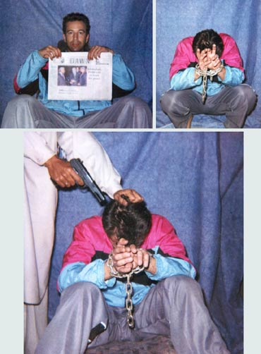 Photographs released by the kidnappers of Wall Street Journal reporter Daniel Pearl