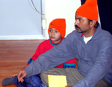 Kabir Kumar with his father