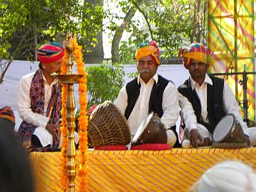 Musicians at the Jaipur Literature Festival