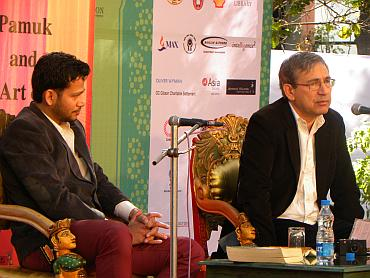 Chandrahas Choudhury  and Orhan Pamuk