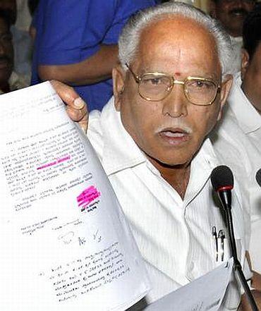 Karnataka Chief Minister Yeddyurappa