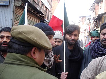 JKLF chairman Mohammad Yasin Malik arrested by the state police