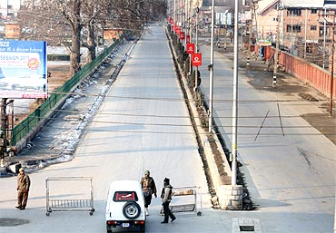 There was high security cover in Kashmir on Republic Day