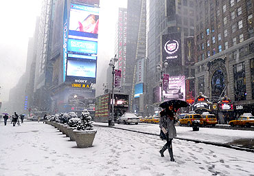 New York prepares for another storm that is expected to drop up to eight inches of snow