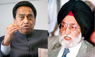 Ministers Kamal Nath and M S Gill were shunted to other ministries in the reshuffle