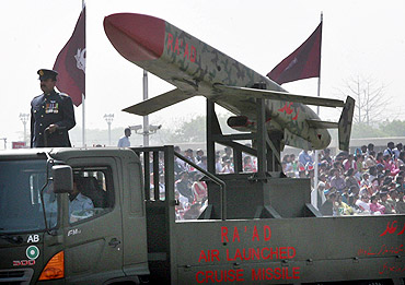Pakistan's nuclear-capable air-launched Ra'ad cruise missile