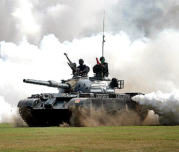 A Pakistani battle tank