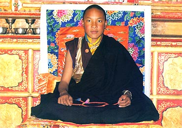A file photo of the Karmapa in 1997. He fled to India in 2000