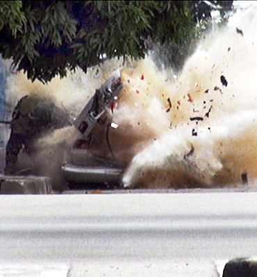 In PHOTOS: Dramatic shots of a car bomb blast