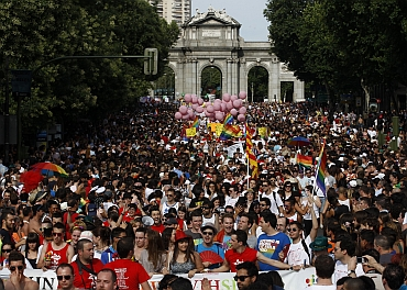 The parade in Madrid