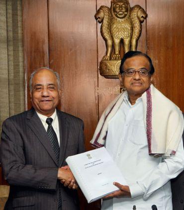 Chidambaram With Justice Sri Krishna