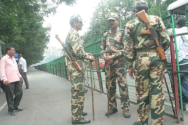 Security has been tightened in Hyderabad, with the deployment of Rapid Action Force in busy areas