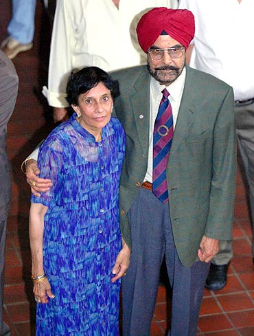 Haley's mother Raj and father Dr. Ajit Randhawa