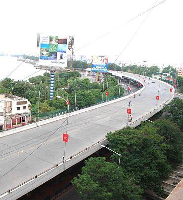 Deserted street in Hyderabad