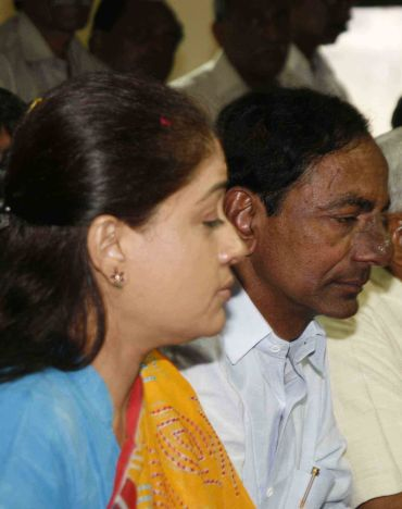 KCR with Vijayashanti