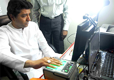 When Raj Thackeray got fingerprinted